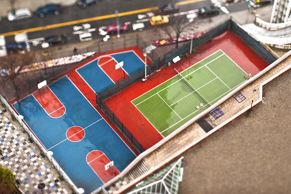 Basketball and Tennis Courts, New York City, New York, United States of America