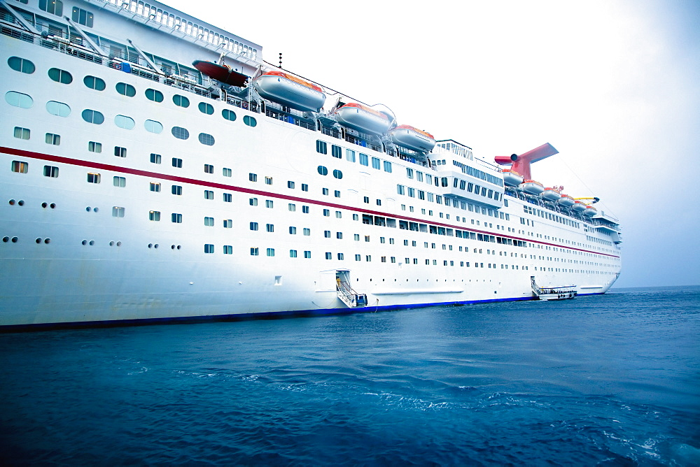 Side of a Cruise Ship, George Town, Grand Cayman, Cayman Islands