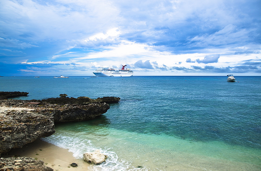 Cruise Ship Off the Shore, George Town, Grand Cayman, Cayman Islands