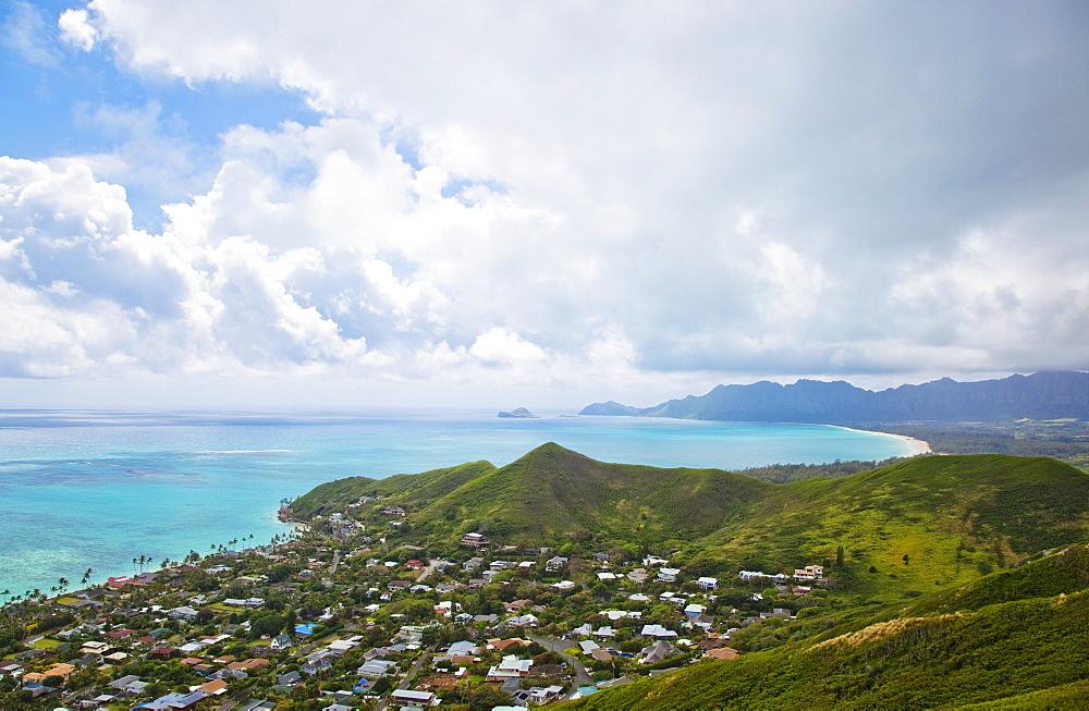 View of Kailua, O'ahu, Hawaii, Hawaii, United States of America