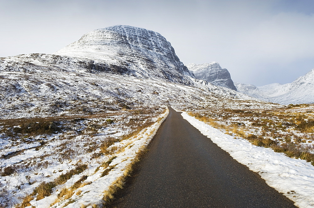 Road to Applecross in winter, Ross-shire, Scotland, UK