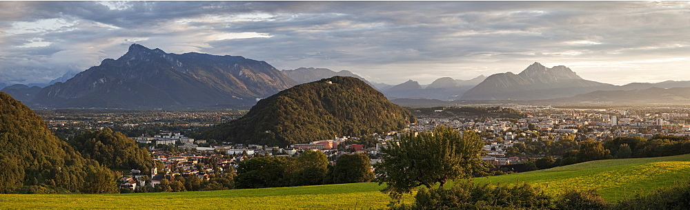 Salzburg, Austria, at Dusk, Salzburg, Austria, Europe