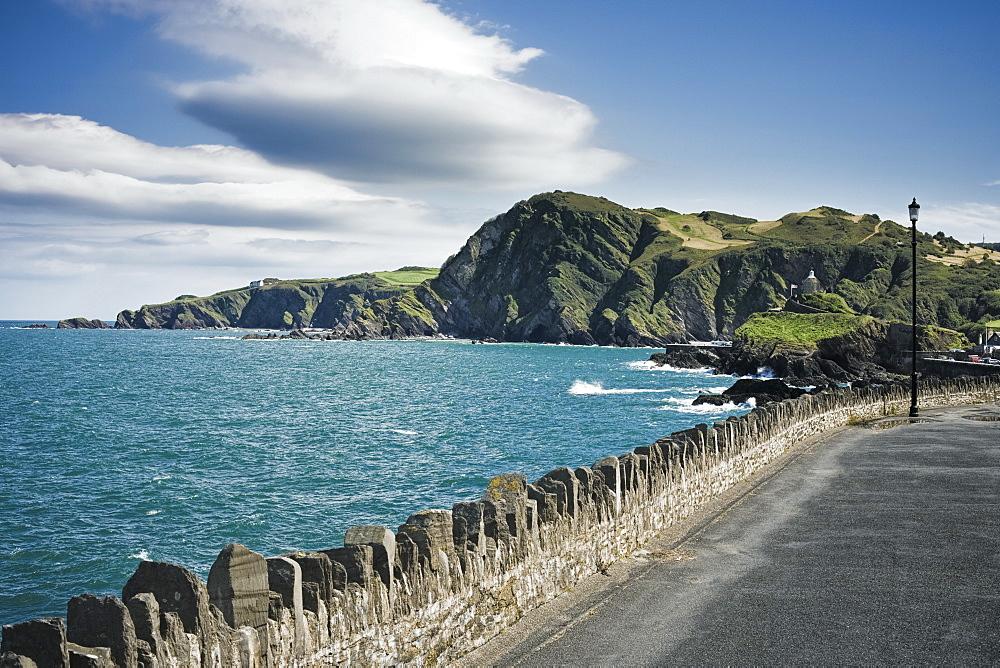 Roadway Along Coast, Devon, England, UK, Europe