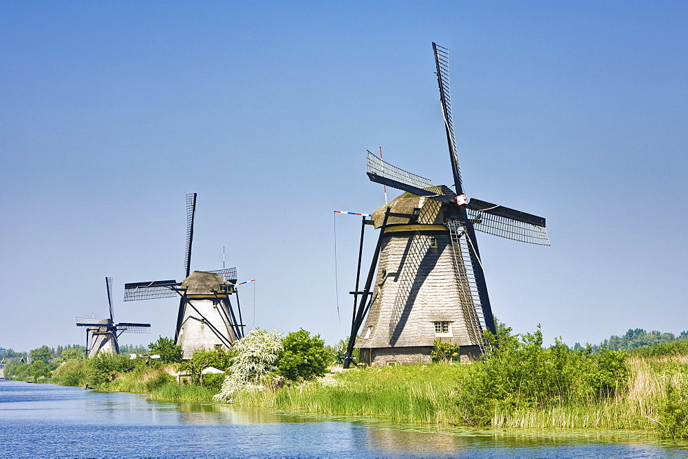 Windmills, Kinderdijk, The Netherlands, Europe, Kinderdijk, The Netherlands, Europe