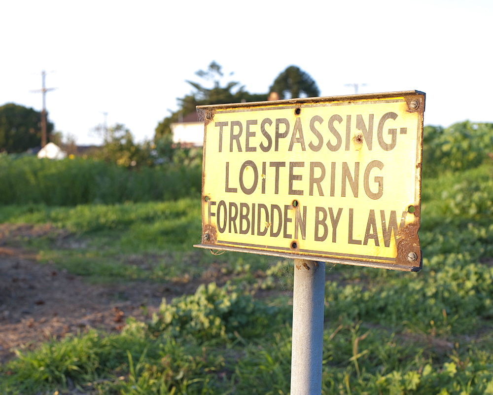 No Trespassing Sign, Los Angeles, California, United States of America