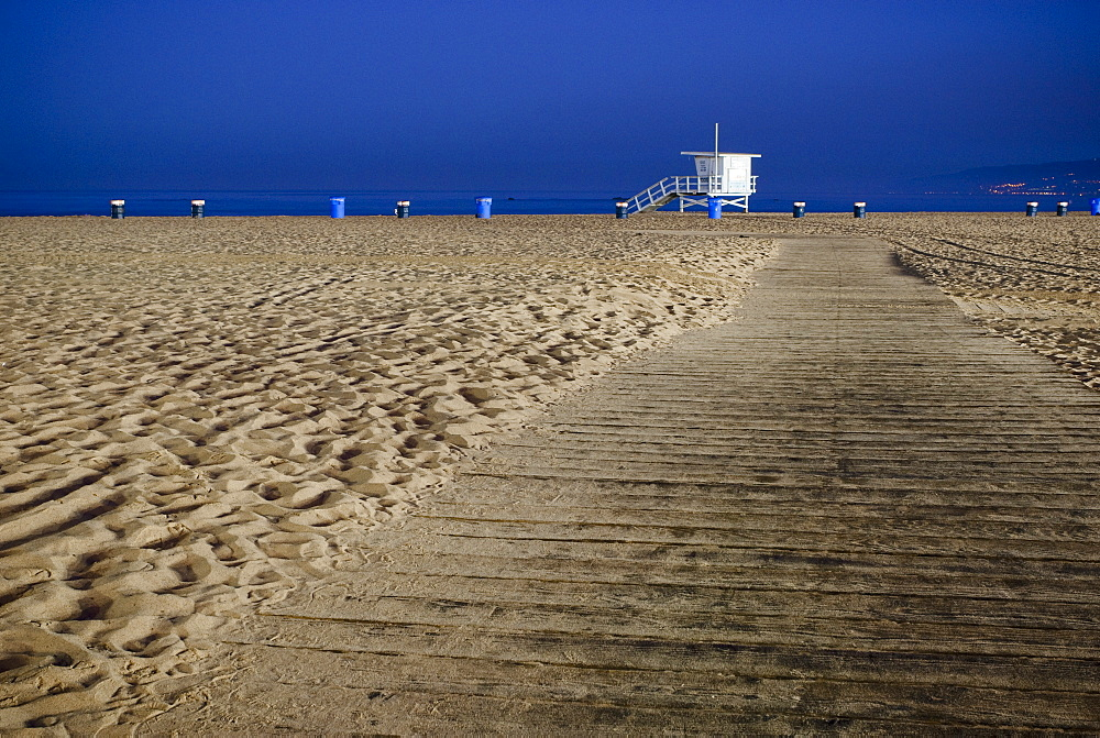 Path on Beach, Santa Monica, California, United States of America