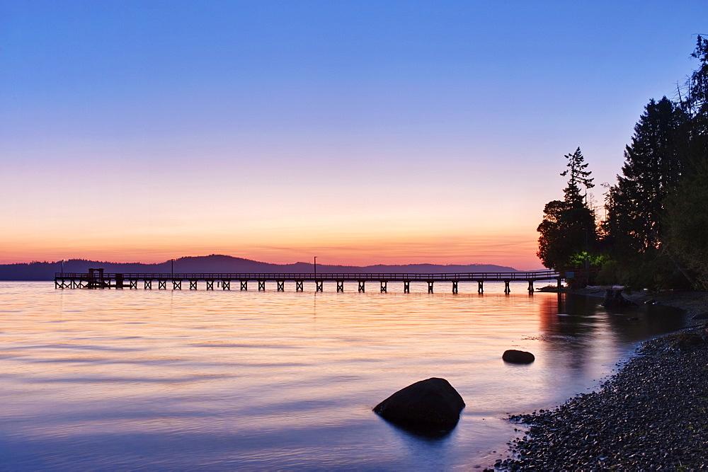 Government Pier at Dawn, Salt Spring Island, British Columbia, Canada