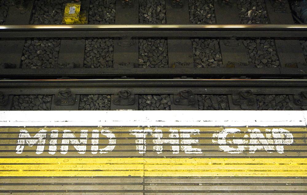 Subway Warning, London, England, UK