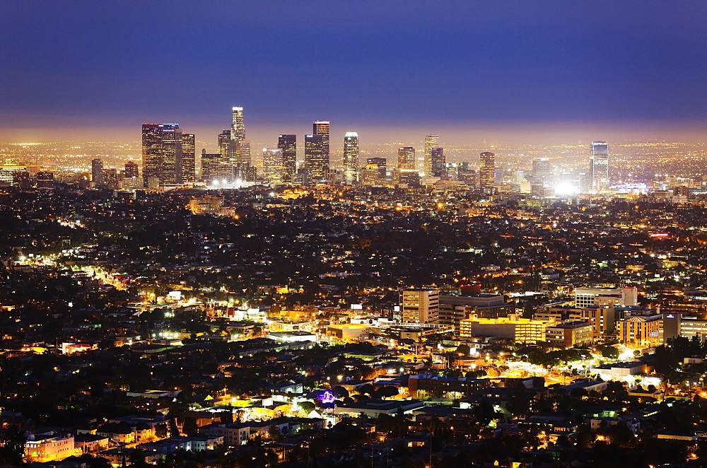 Large City at Night, Los Angeles, California, United States of America