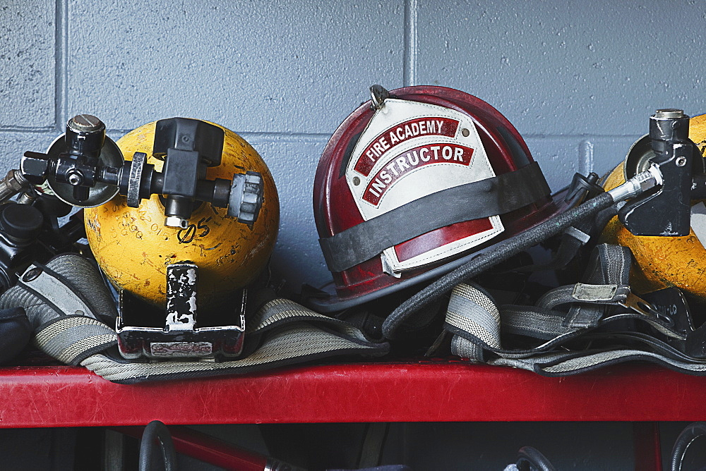 Fireman Helmets and Gear, Bradenton, Florida, United States of America - 1174-5562
