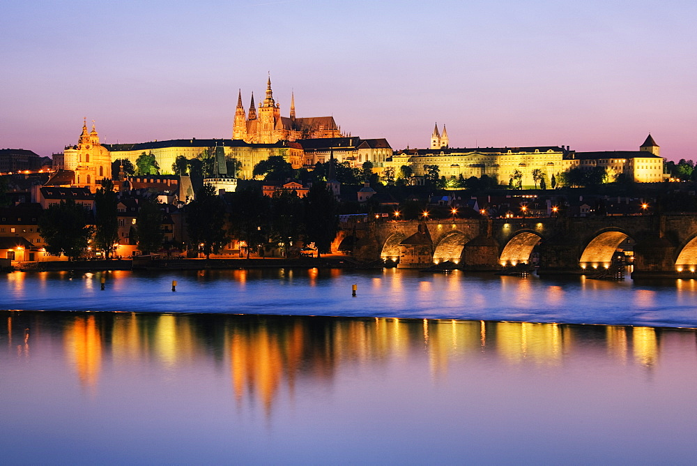 Prague Castle on the Riverbank, Prague, Czech Republic