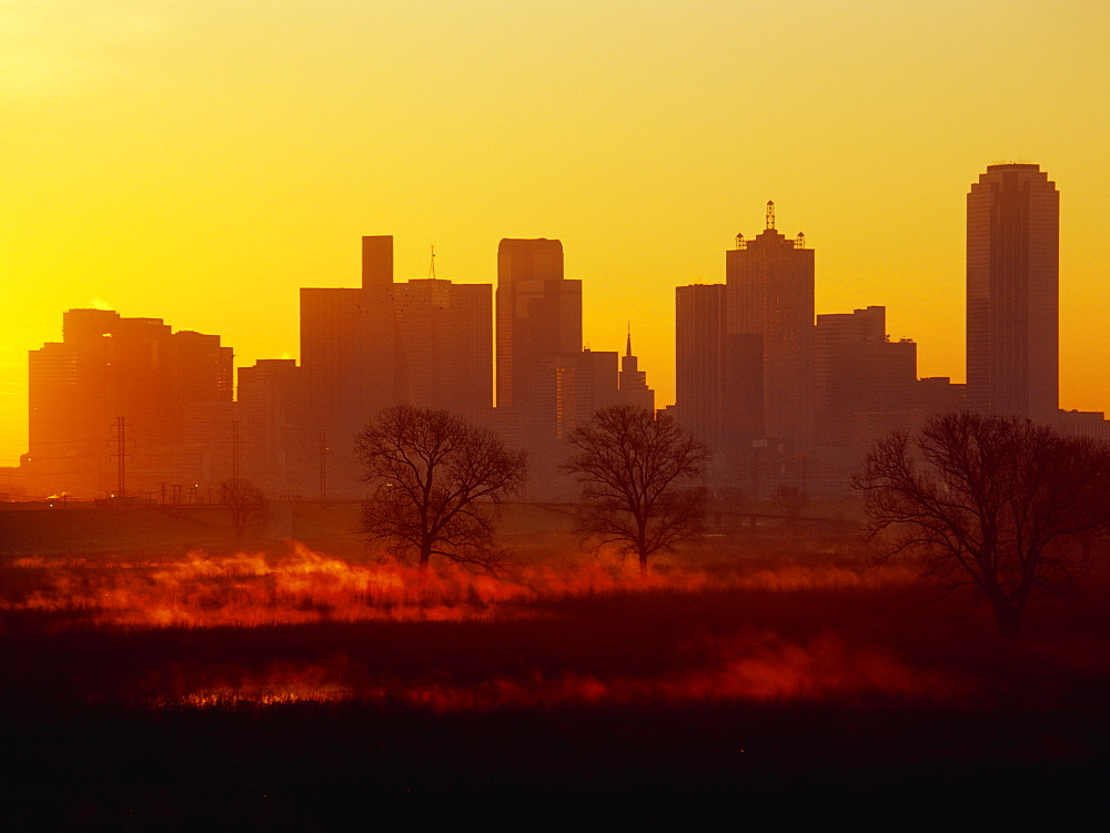 Dallas Skyline at Sunrise, Dallas, Texas, United States of America