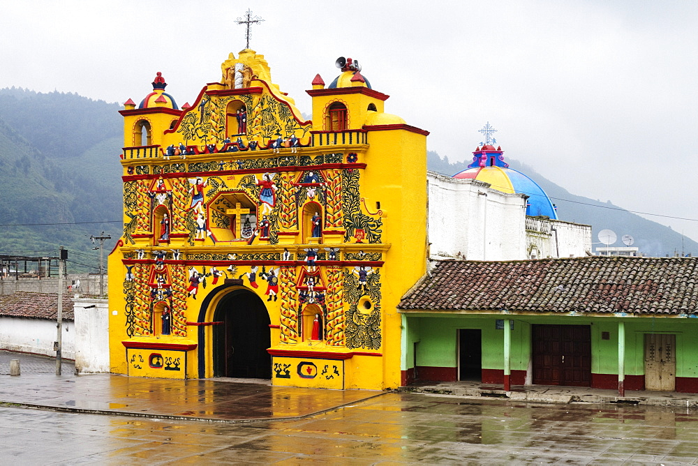 Colorful Church of San Andres Xecul, San Andres Xecul, Guatemala