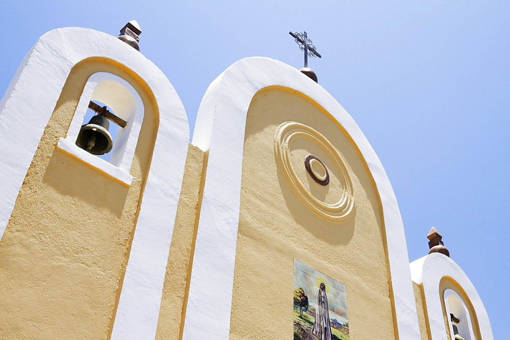 Exterior Facade of a Mexican Church, Todos Santos, Baja California, Mexico