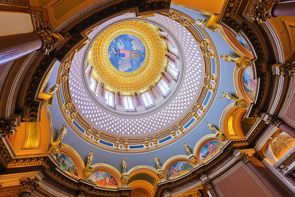 Iowa State Capitol Building Interior, Des Moines, Iowa, USA