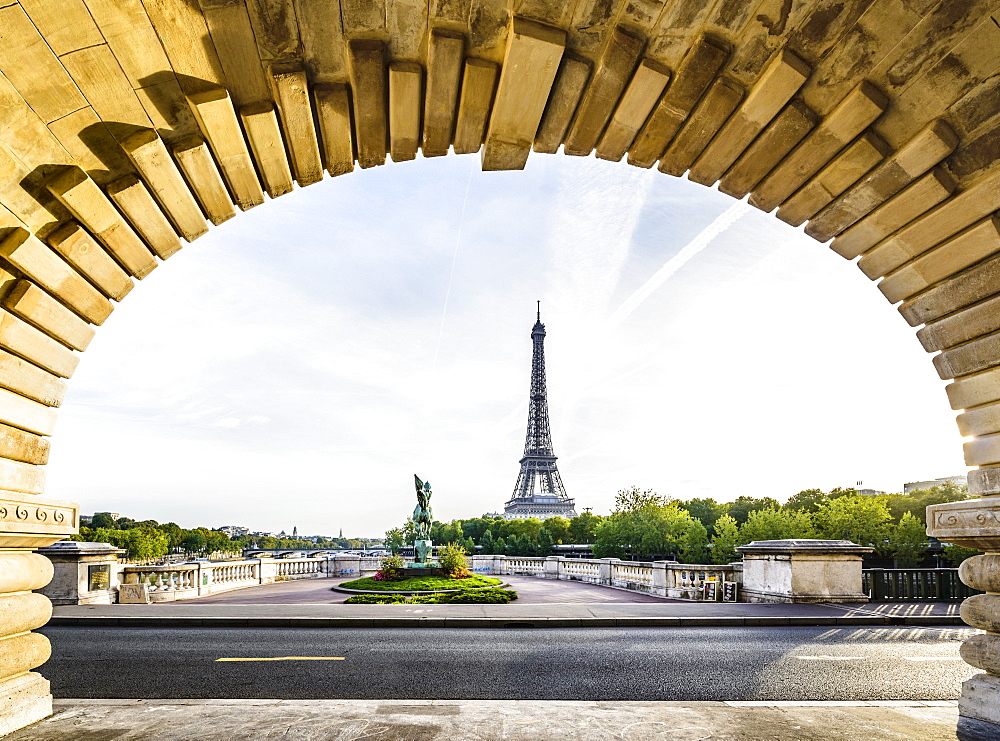 Eiffel Tower from arch, Paris, France, Paris, France