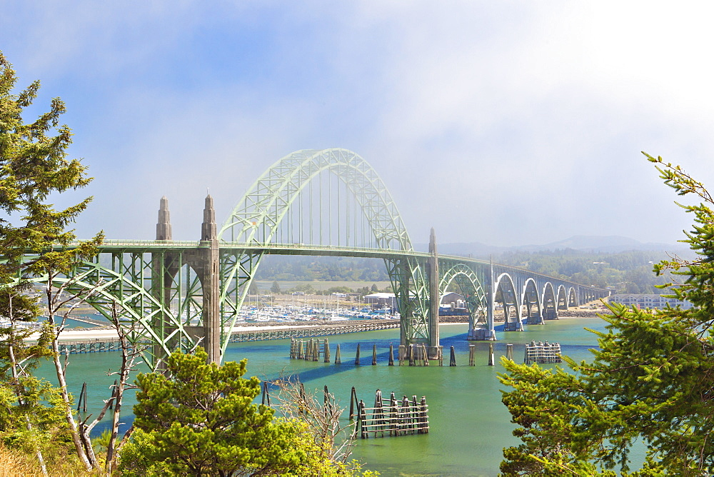 Yaquina Bay Bridge, Newport, Oregon, United States, Newport, Oregon, USA