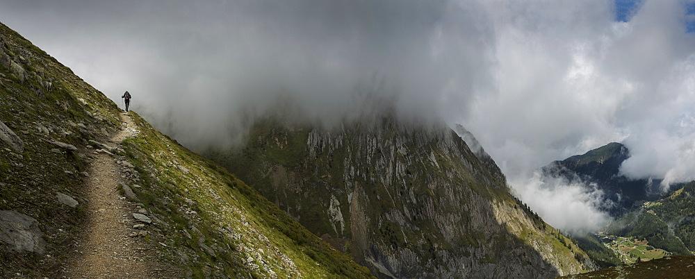 Mountain path, Mt. Blanc, Switzerland, Mount Blanc, Switzerland