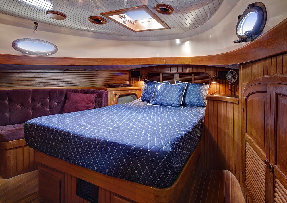 Sleeper in boat cabin