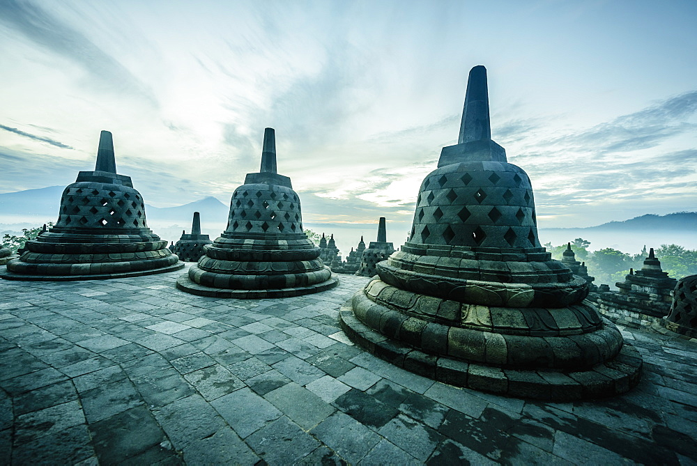 Monuments in Borobudur, Jawa Tengah, Indonesia, Borobudur, Jawa Tengah, Republic of Indonesia