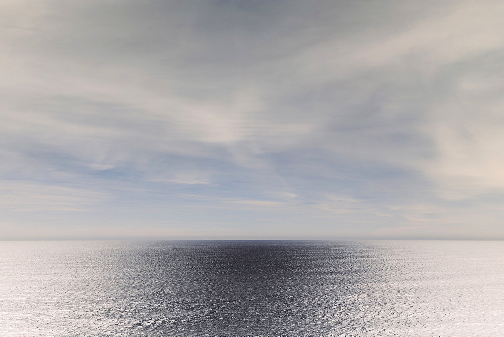 Inverted image of vast ocean, sky and horizon, Oswald West State Park, Manzanita, Oregon, Oswald West Park, Oregon, United States