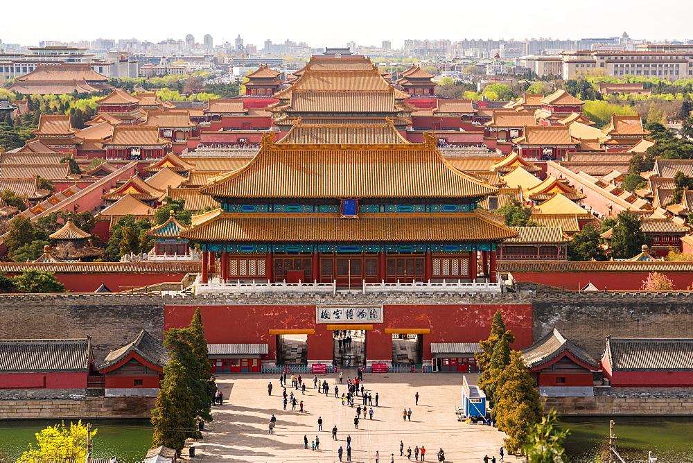 View over Forbidden City in Beijing, China, Beijing, China