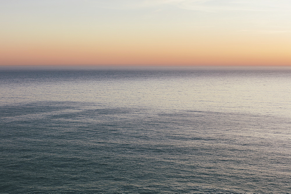Seascape at dawn view over the ocean surface, Marin County, California, United States