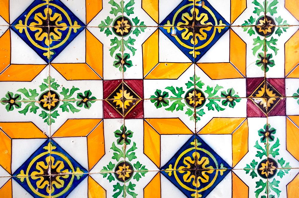 Vintage patterned tiles, Algarve, Portugal