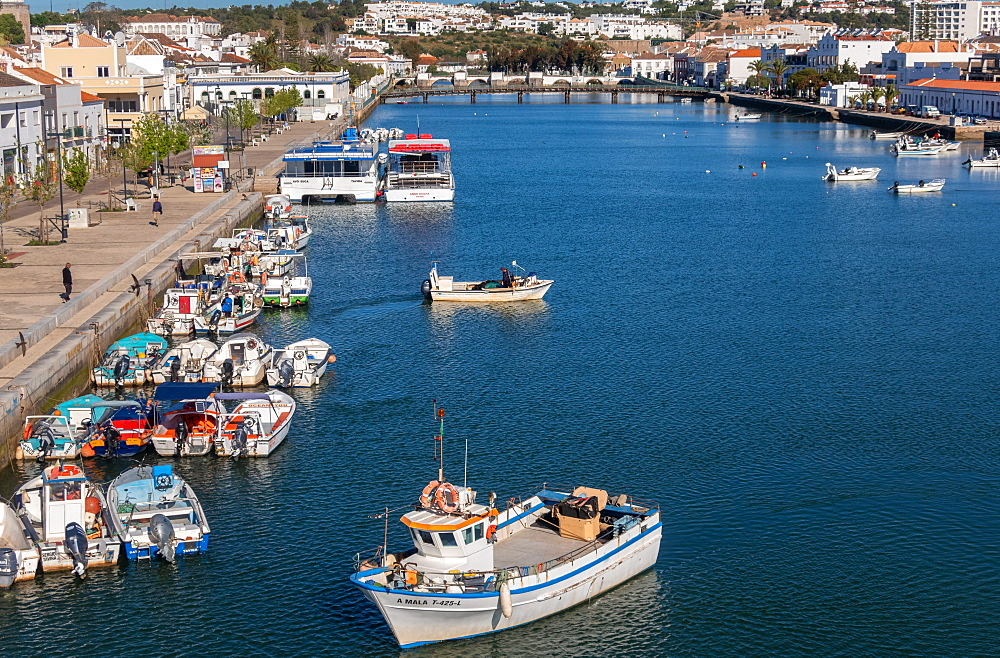 Fishing boats at Tavira, Eastern Algarve, Portugal