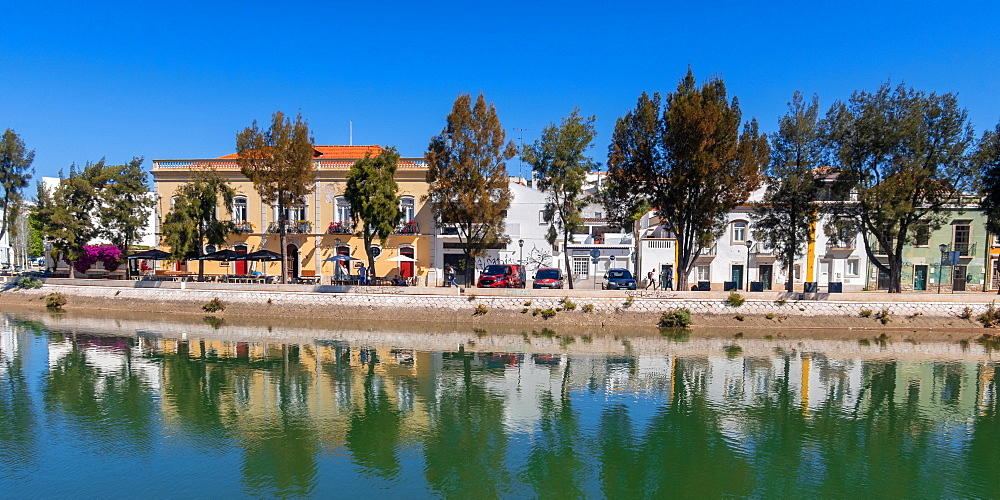 Tavira and the River Gilao in east Algarve, Portugal