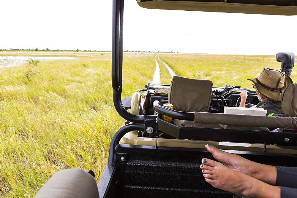 feet in safari vehicle, Botswana