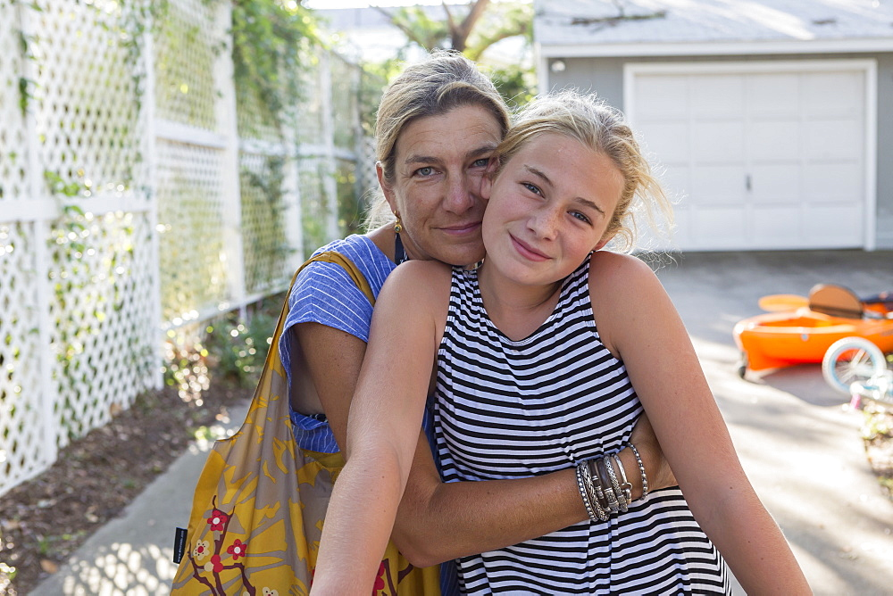 portrait of mother and her 12 year old daughter, Georgia
