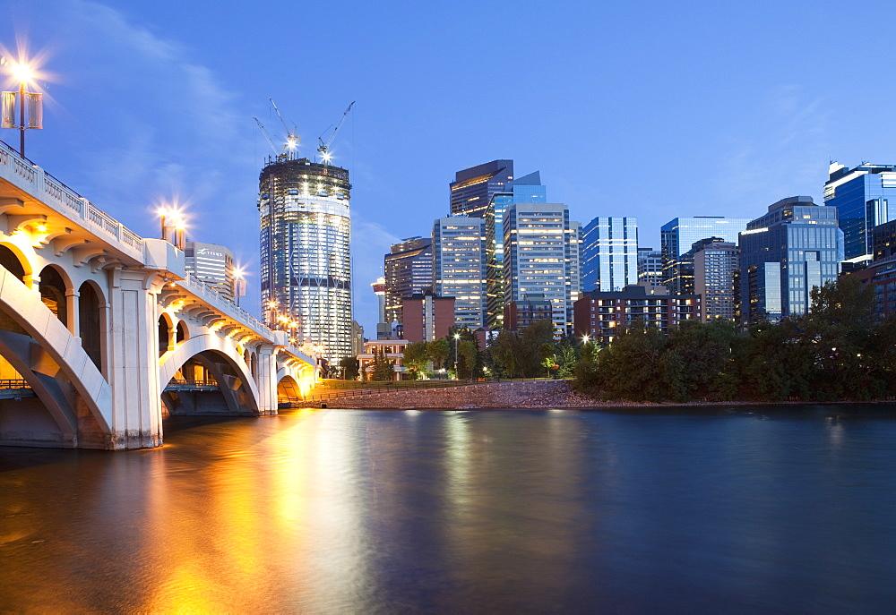Bridge to Downtown Calgary, Calgary, Alberta, Canada - 1174-9072
