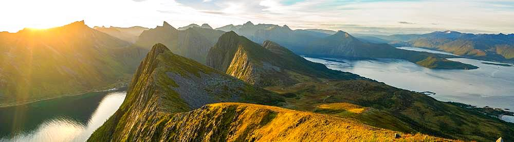 Panoramic view on Senja Island, Troms, Senja Island, Lofoten Islands, Norway