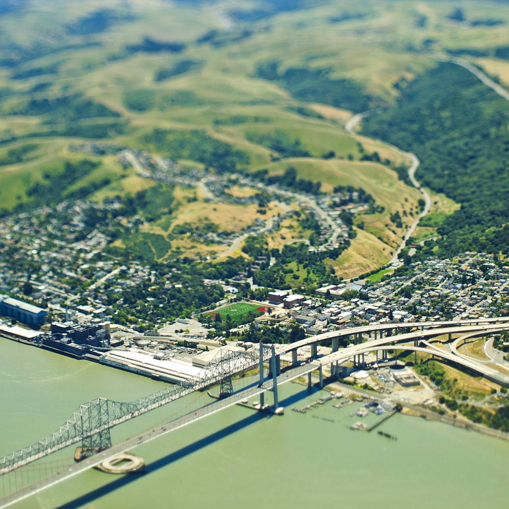 Coastal Community and Bridge, Martinez, California, United States of America