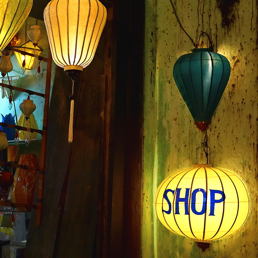 Lanterns at a Gift Shop Entrance, Hoi An, Quang Nam, Vietnam