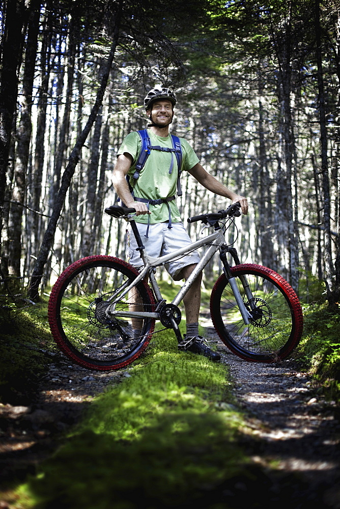 Mountain Biking, Cape Breton Island, Nova Scotia, Canada