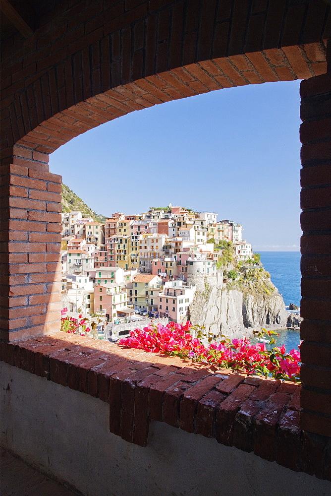 Cinque Terre Town of Manarola, Manarola, Liguria, Italy