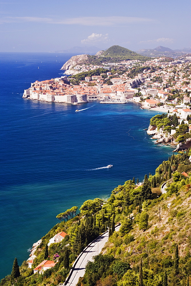 Coastal View of the Old Town of Dubrovnik, Dubrovnik, Croatia