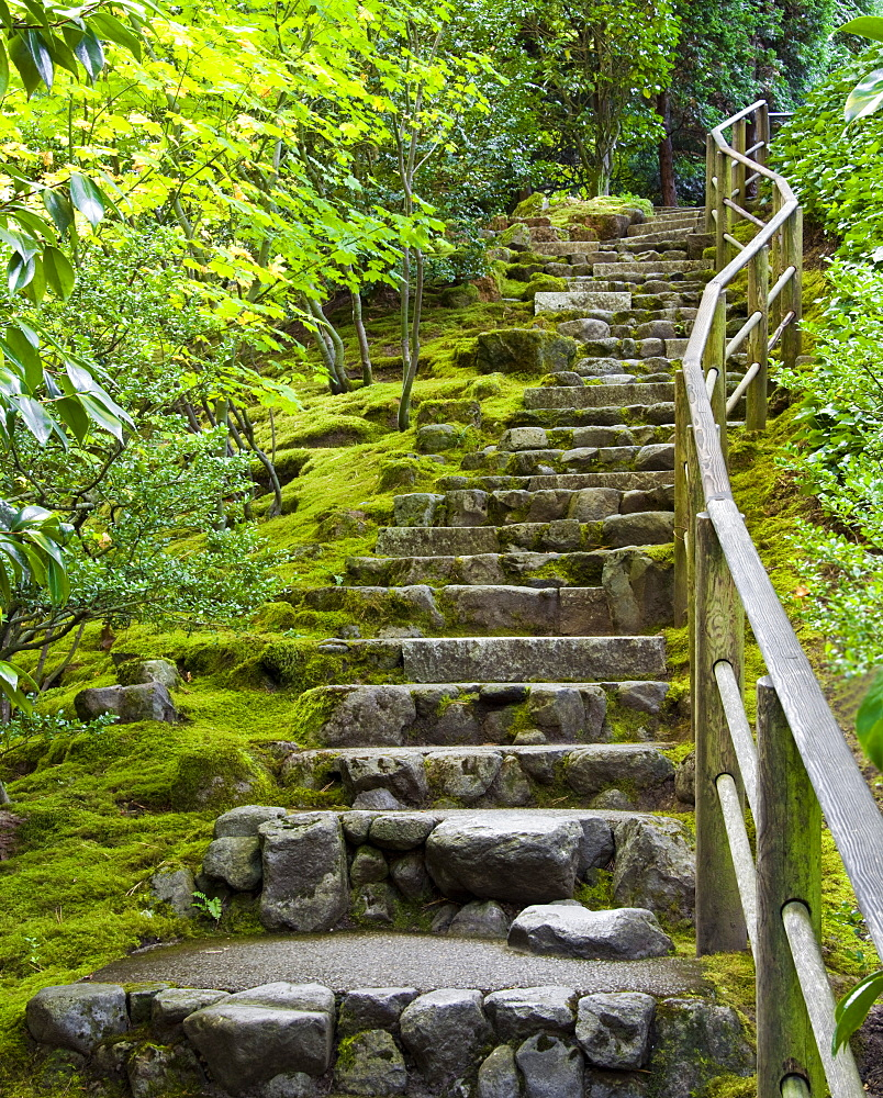 Outdoor Stone Stairway, Portland, Oregon, United States of America