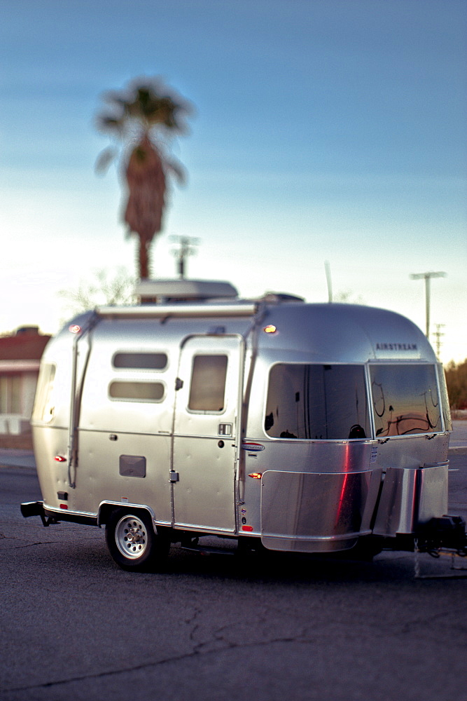 Silver Travel Trailer, Twentynine Palms, California, United States of America