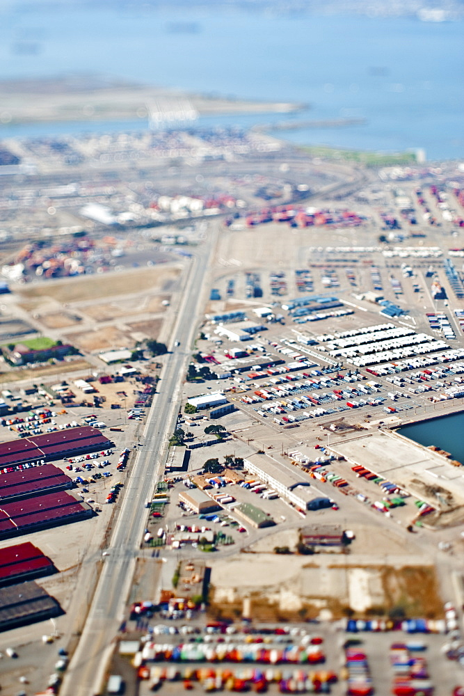 Aerial View of Industrial Area, Oakland, California, United States of America