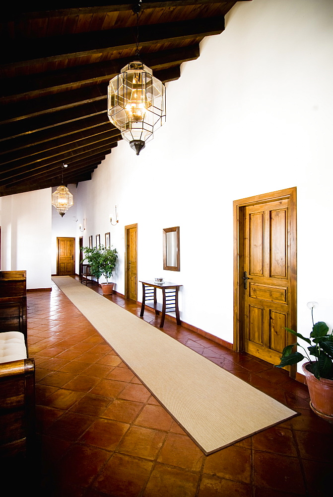 Hallway in Hotel, Antequera, Andalucia, Spain