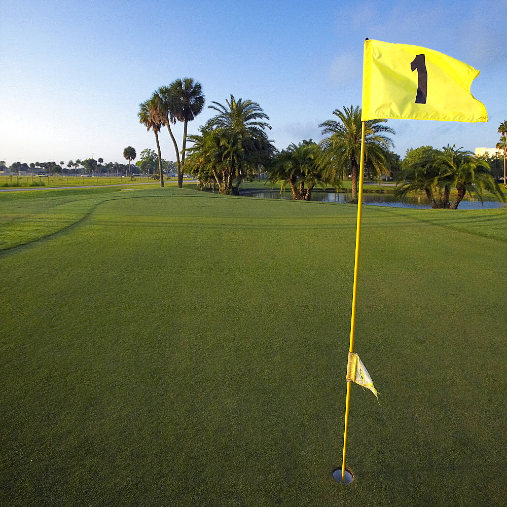 First Hole on a Golf Course, Bradenton, Florida, United States of America