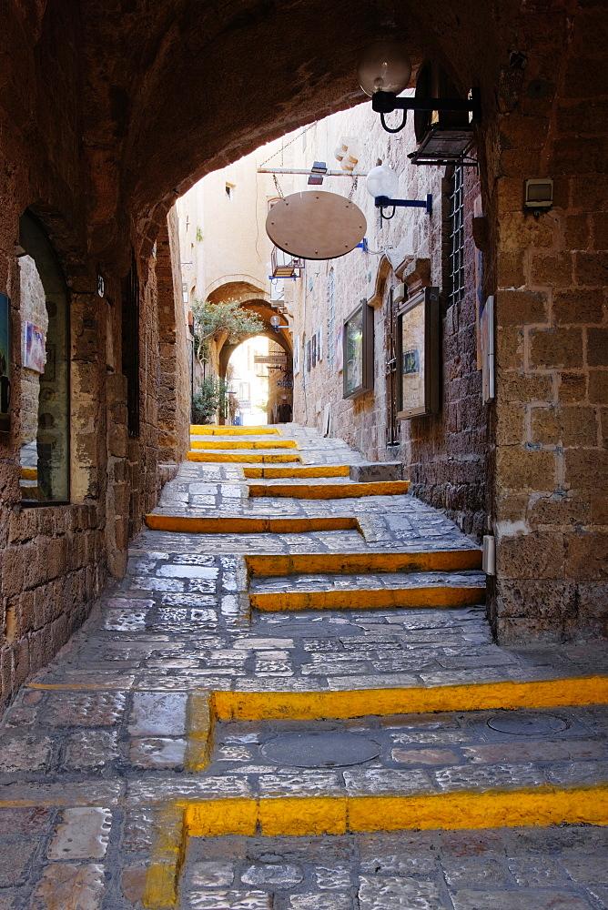 Narrow Old Style Street, Tel Aviv, Israel