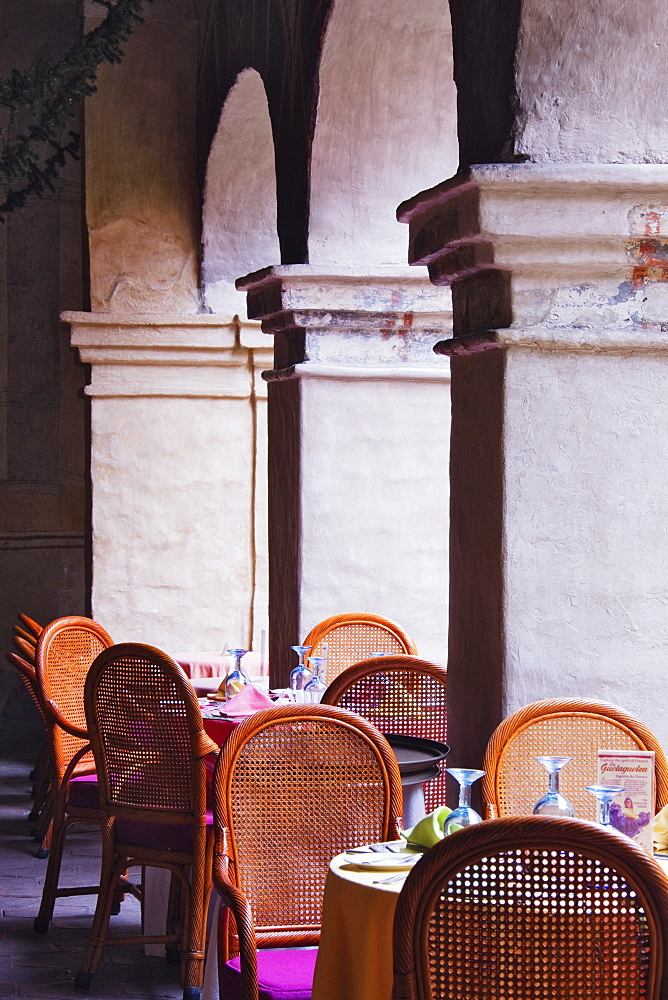 Restaurant Seating Amidst Columns, Oaxaca, Mexico