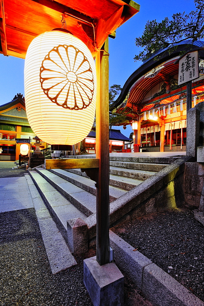 Dusk Scene at Inari Shrine, Kyoto, Japan