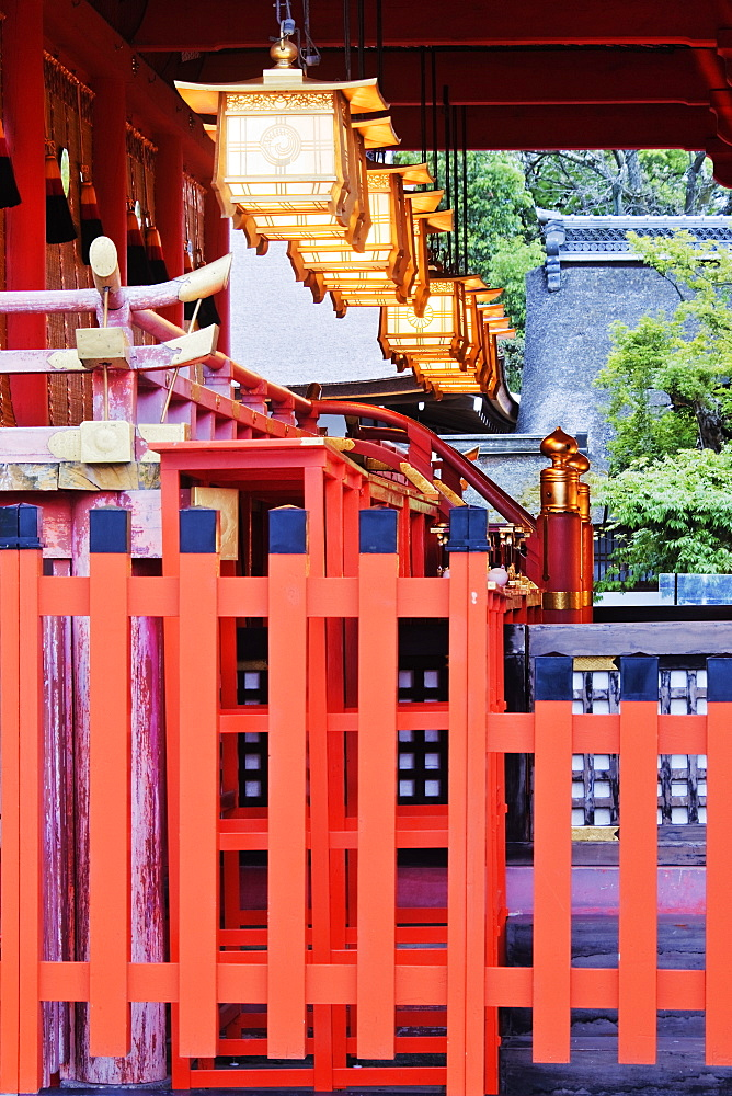 Ornate Asian-Style Building and Fence, Kyoto, Japan
