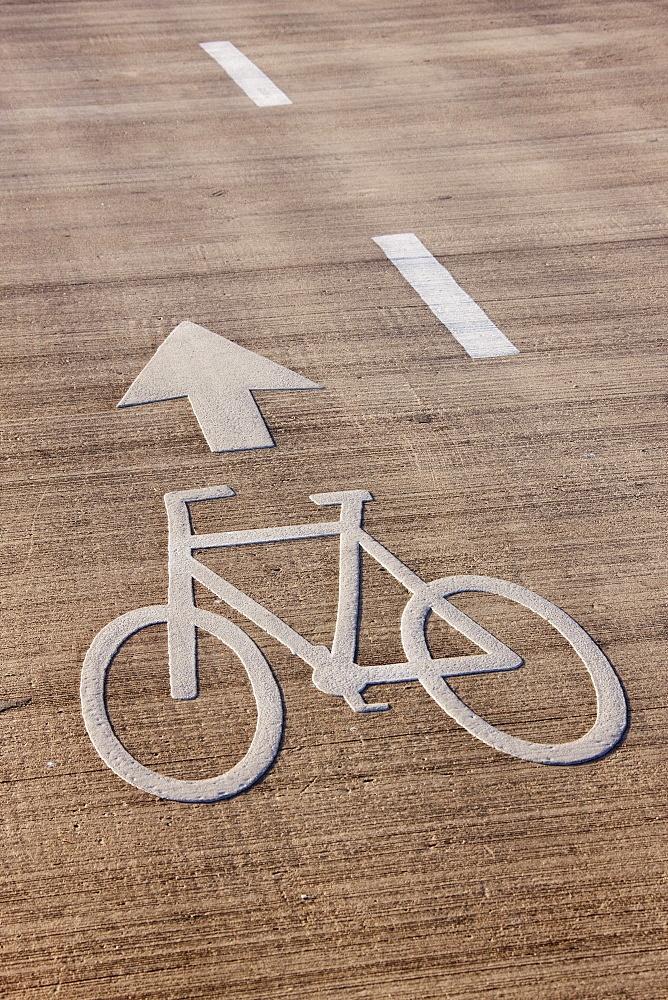 Bicycle Lane Directions, Tel Aviv, Israel