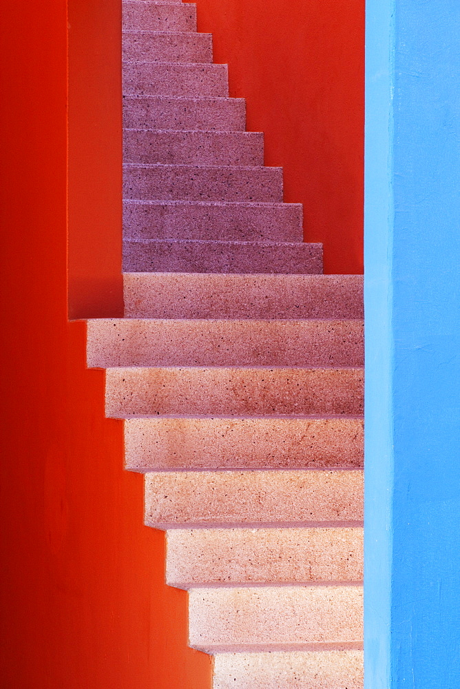 Colorful Stairwell, San Jose Los Cabos, Baja California, Mexico